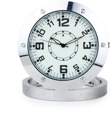 Perfecto Analog Silver Clock