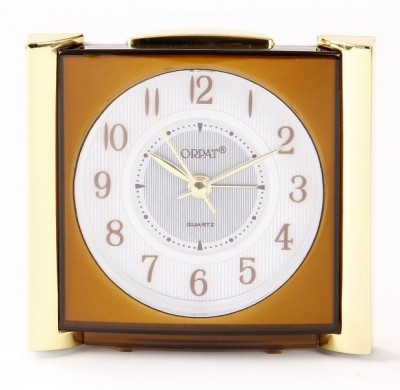 Orpat Analog Brown Clock available at Flipkart for Rs.310