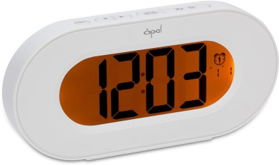 Opal Digital White Clock
