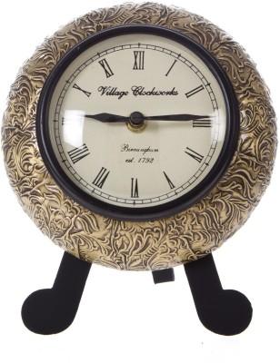 Smile2u Retailers Analog Gold Clock