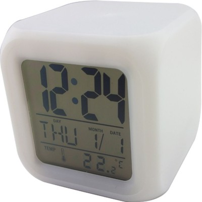 Triofextech Digital MultiColour Changing Table Clock