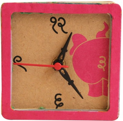 Green The Gap Analog Pink Clock