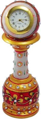 RajLaxmi Analog Red, Yellow Clock