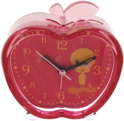 Warner Bros Analog Pink Clock