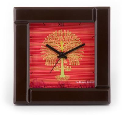 The Elephant Company Analog Orange Clock