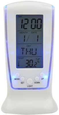 SKYKART Digital WHITE Clock
