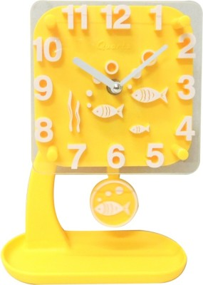 Zayn D Analog Yellow Clock