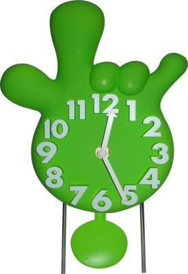 SSD Analog Green Clock
