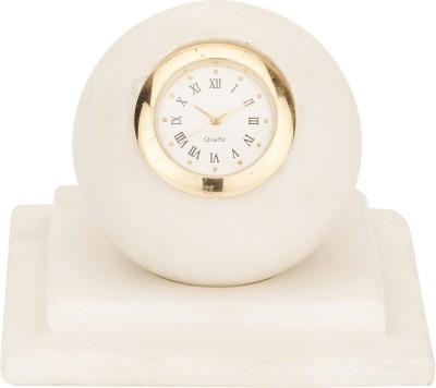 Artistic Handicrafts Analog White, Gold Clock
