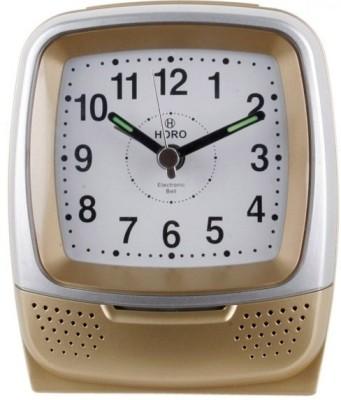 Horo Analog Metallic Gold Clock