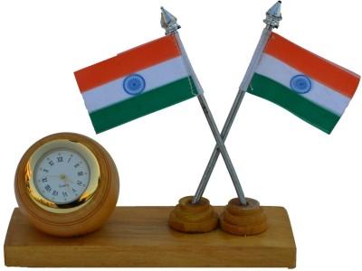eCraftIndia Analog Brown Clock