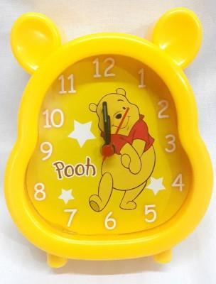 SCORIA Analog yellow Clock