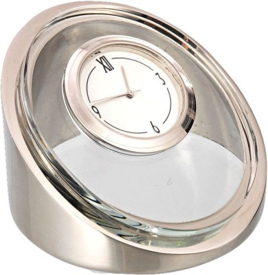 HAPS Analog Silver/Glass Clock