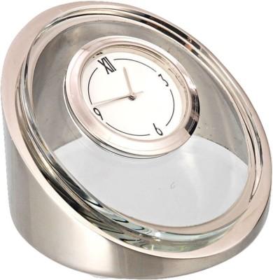 HAPS Analog Silver/Glass Clock