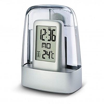 Gift Island Digital Silver Clock
