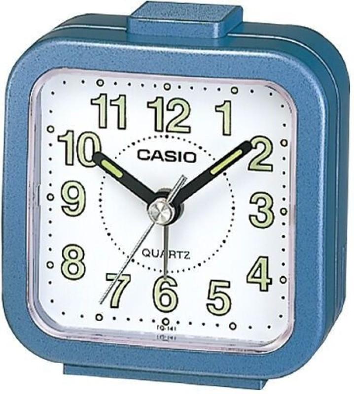 Casio Analog Blue Clock TQ-141-2DF Table Clock AC04