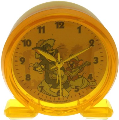 Warner Bros Analog Yellow Clock