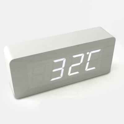 Gizmo World Digital White Clock