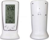 AutoSun Digital Alarm Table White Clock