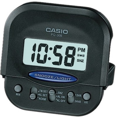 Casio Digital Black Clock
