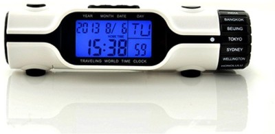 Vinayaka Digital White Clock