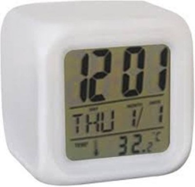 Radhe Radhe Digital White Clock