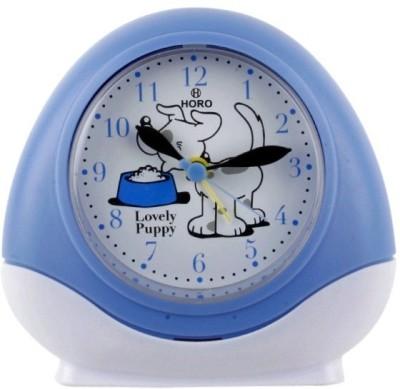 Horo Analog Metallic Blue Clock