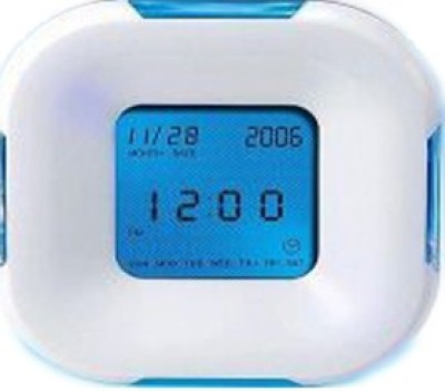 Trioflextech Analog-Digital White Clock