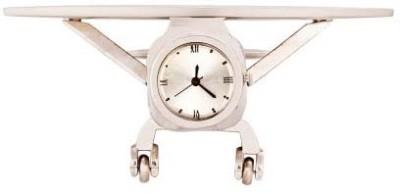 PTC Mart Analog Silver Clock