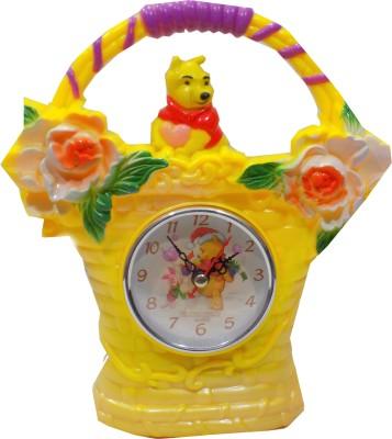 BatukSmartShopy Analog Yellow Clock