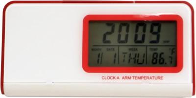 Wallace 013TE Digital Talking Table Clock Analog Red, White Clock
