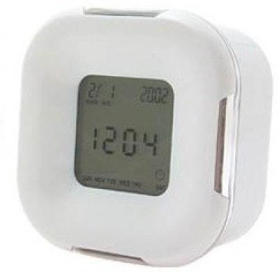 Gift Island Digital White Clock