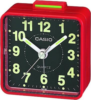 Casio Analog Black, Red Clock