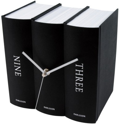 Present Time Analog Black Clock