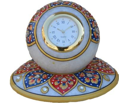 eCraftIndia Analog Blue, Red, Gold Clock