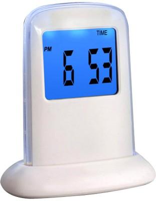 Power Plus Digital White Clock