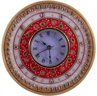 Khatushyam Analog White Clock