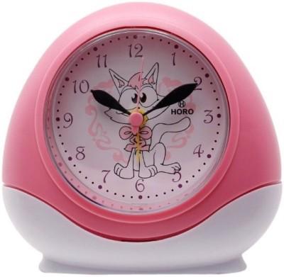 Horo Analog Metallic Pink Clock