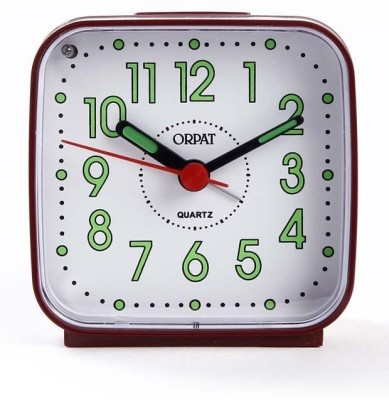 Orpat Analog Burgandy Clock
