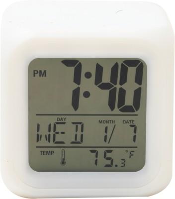 Bazaar Pirates Digital White Clock