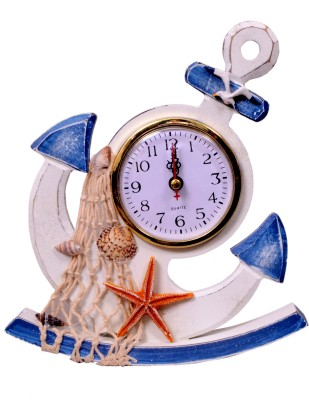 Mangalam Analog White and Blue Clock