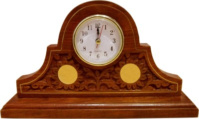 Heaven Decor Analog Brown, Golden, White, Black Clock