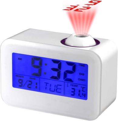 Insasta Digital White Clock