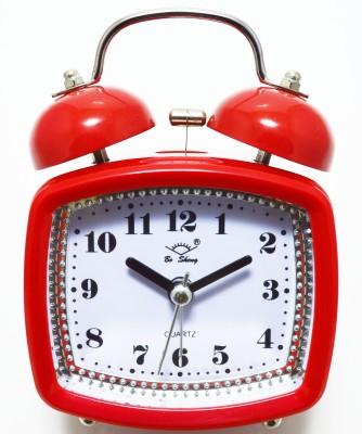 Like Analog Red Clock