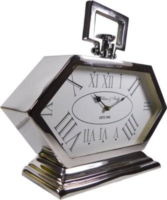 Reverence Analog Silver Clock