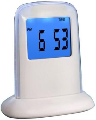 Disney Digital White Clock