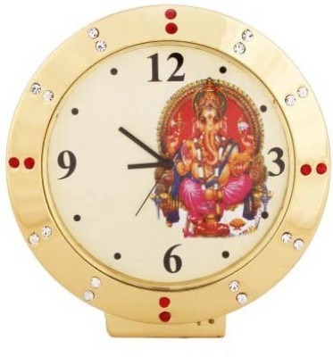 PTC Mart Analog Gold Clock
