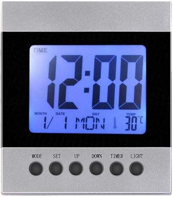 Wallace DS-2088 Multi Display Digital Table Clock with Alarm Digital Grey, Black Clock