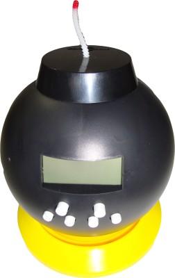 Bento Analog-Digital Black Clock