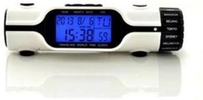 HCS Analog-Digital White Clock